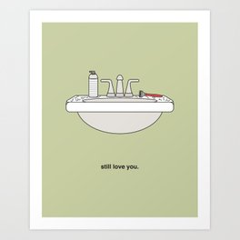 Hairy Sink Art Print