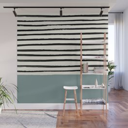 River Stone & Stripes Wall Mural