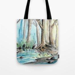 Woods Pen & Ink Watercolor Tote Bag