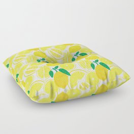 Lemon Harvest Floor Pillow