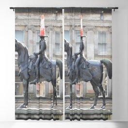 Scottish Photography Series (Vectorized) - Duke of Wellington Statue Glasgow #2 Blackout Curtain