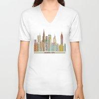 atlanta V-neck T-shirts featuring Atlanta by bri.buckley