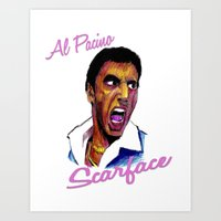 scarface Art Prints featuring Scarface by AdrockHoward