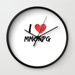 I Love MMORPG Wall Clock