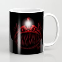 carmilla Mugs featuring The Light Is Hungry by Franchie