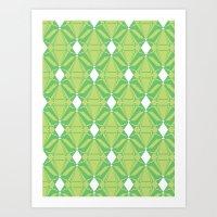 Abstract [GREEN] Emeralds Art Print