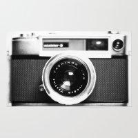 vintage camera Area & Throw Rugs featuring Camera Vintage by Maressa Andrioli