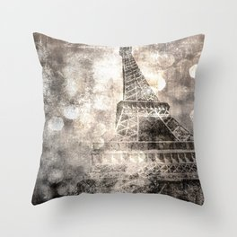 Under the Eiffel Tower Throw Pillow