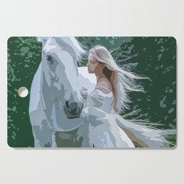 The White Maiden and A White Horse Cutting Board