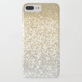 Gold and Silver Glitter Ombre iPhone Case
