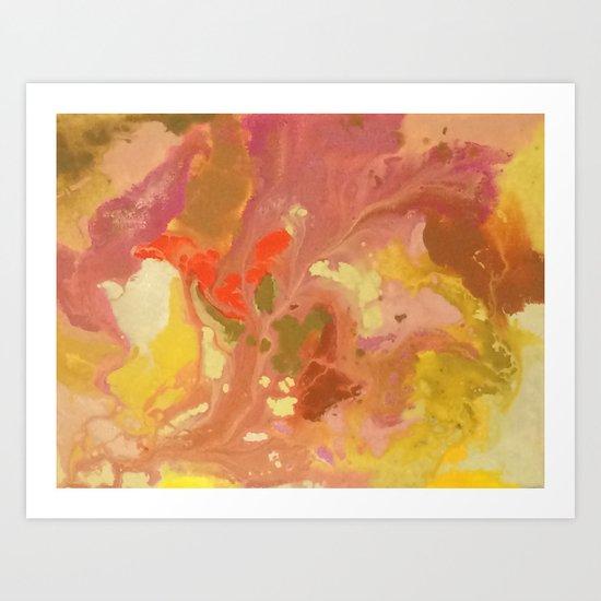 Marbling Series Art Print