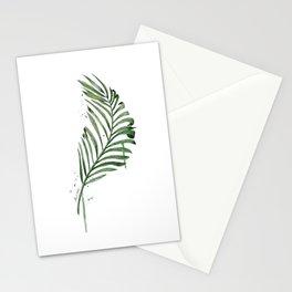 Palm Leaf Illustration Stationery Cards