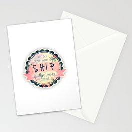 Ship and Let Ship Stationery Cards