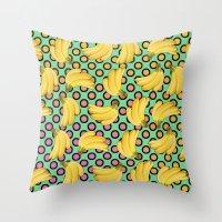 banana Throw Pillows featuring banana by mark ashkenazi