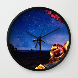 Early Morning Stars Wall Clock