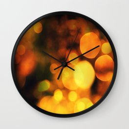 Coloured Bokeh  Wall Clock
