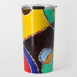 A carpet with an abstract pattern made by hands. Travel Mug