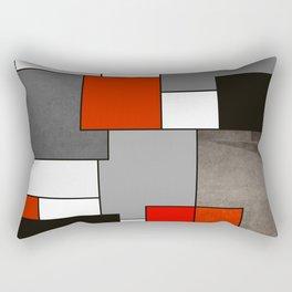 Modern Geometric Red and Black Rectangular Pillow