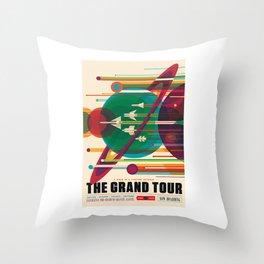 Grand Tour NASA Travel Throw Pillow