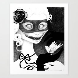 Cravings (whiteout) Art Print