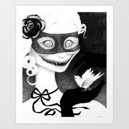 Cravings (whiteout) Art Print