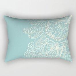 Abstract Nature In Aqua Rectangular Pillow