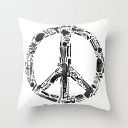 Find Peace (White) Throw Pillow