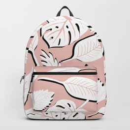 Filodendros white & pink Backpack