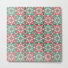 Christmas knitted jacquard pattern Metal Print