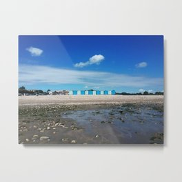 Blue beach huts Metal Print