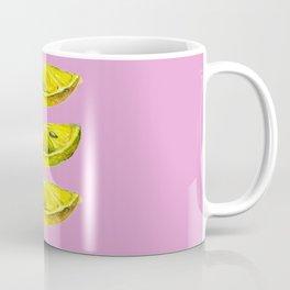 Lemon Slices Pink Coffee Mug