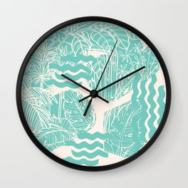 Jungle Green Wall Clock