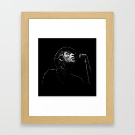 Tom Waits (scribble style) Framed Art Print
