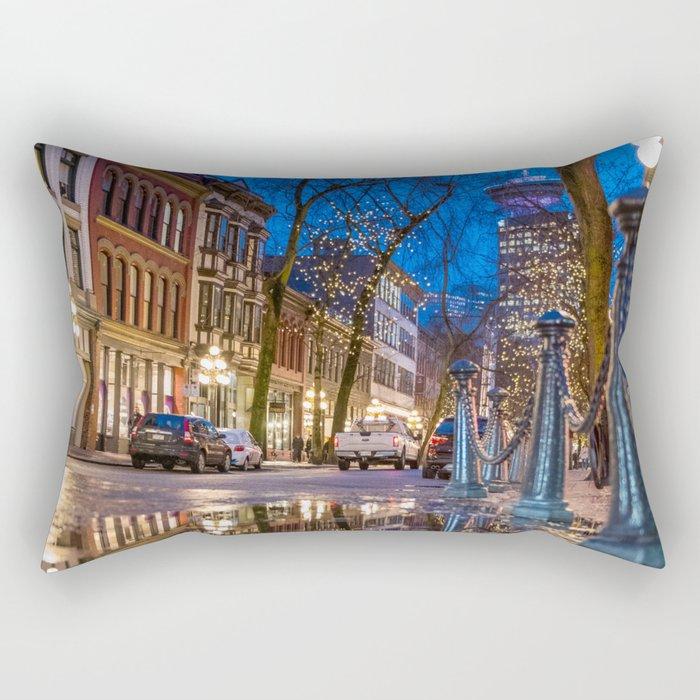 Portrait of Gastown, Vancouver Rectangular Pillow
