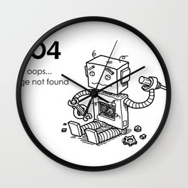 404 Page Not Found Wall Clock