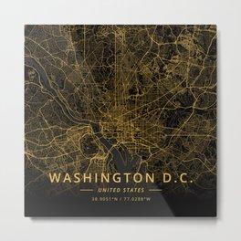 Washington D.C., United States - Gold Metal Print
