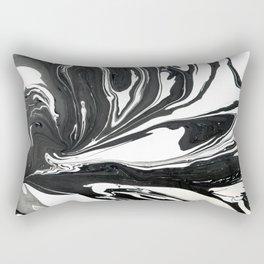 Black ink marble Rectangular Pillow