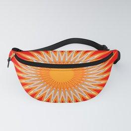 Vibrant Red Sun Mandala Fanny Pack