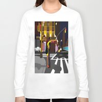 broadway Long Sleeve T-shirts featuring BROADWAY KISS by Alfred Fox Art & Photography