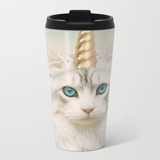 Unicorn Cat Sky Metal Travel Mug