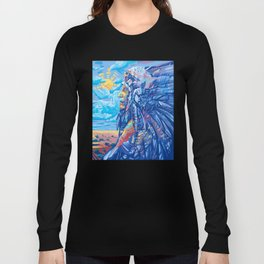 native american portrait 3 Long Sleeve T-shirt