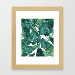 Tropical Summer Jungle Leaves Dream #2 #tropical #decor #art #society6 Framed Art Print