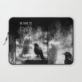 Taste Your Words Crow Laptop Sleeve
