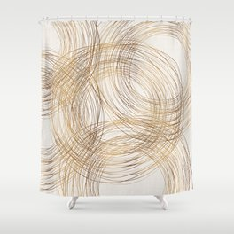 Metallic Circle Pattern Shower Curtain