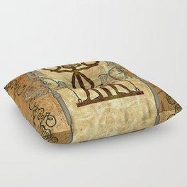 Egyptian sign Floor Pillow