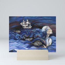 Ocean Hair. Mini Art Print