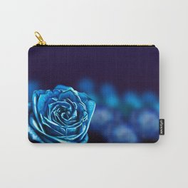 Blue Rose Carry-All Pouch