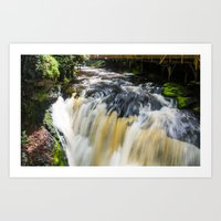 Blurred Lower Gorge Falls Art Print