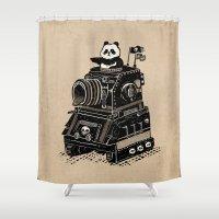 panda Shower Curtains featuring Panda by Ronan Lynam