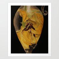Flowers Drowning series - Tulip Art Print